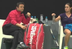 Monica Niculescu, certata de propriul antrenor in timpul meciului cu Wozniacki: Asculta-ma ce-ti spun!