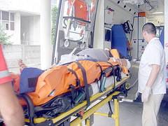 Mopedistul lovit de tir a ajuns in stare grava la spital