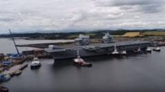 Moscova ironizeaza cel mai mare portavion din istoria UK: Este o tinta mare si convenabila. Sa nu se apropie de flota noastra