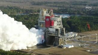 """Motoarele rachetei gigant SLS s-au oprit prematur intr-un test crucial pentru viitoarele misiuni. NASA: """"Se analizeaza datele"""""""