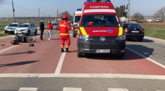 Motociclist din Slatina, victima unui accident produs la intersectia DN 65 - E 574 cu DJ 644