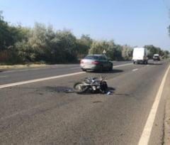 Motociclist internat in urma unui accident rutier