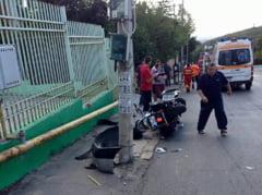 Motociclist ranit grav intr-un accident la Slatina