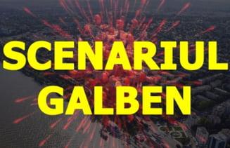 Municipiul Galati intra in SCENARIUL GALBEN si orasul Targu Bujor in SCENARIUL ROSU