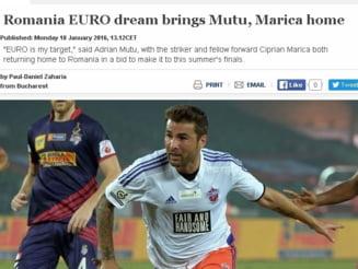 Mutu si Marica, vedete pe site-ul UEFA: Visul de Euro al Romaniei i-a adus acasa