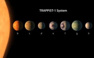 NASA a descoperit sapte exoplanete de marimea Terrei. Pe trei dintre ele viata este posibila (Video)