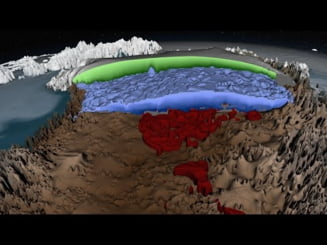NASA publica prima harta 3D a calotei de gheata din Groenlanda