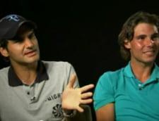 Nadal si Federer, cascadorii rasului (Video)