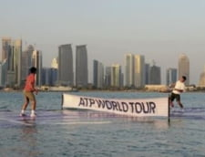 Nadal si Federer au jucat tenis... pe apa (Video)
