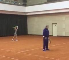 Nadia Comaneci, meci de tenis cu Ilie Nastase (Video)
