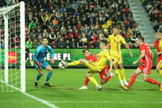 Nationala de tineret a Romaniei invinge Tara Galilor si e in proportie de 99% calificata la Campionatul European de anul viitor