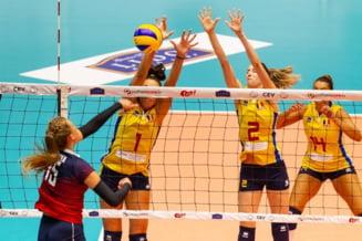 Nationala feminina a Romaniei a fost invinsa in primul meci de la Campionatul European de volei