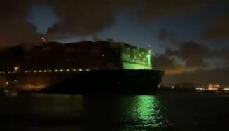 Nava Ever Given, care a blocat canalul Suez timp de o săptămână, a ajuns în portul Rotterdam VIDEO