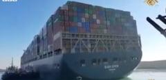 Nava care a blocat Canalul Suez va fi eliberata in urma unui acord cu autoritatile egiptene. Valoarea despagubirilor ramane secreta VIDEO