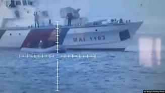 Nave romanesti, aflate in misiunea FRONTEX din Grecia, acuzate ca imping migrantii inapoi in mare