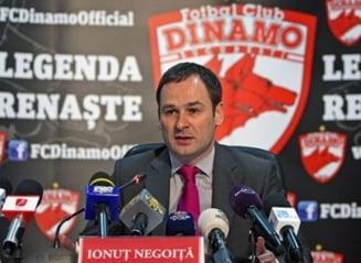 Negoita dezvaluie ca Dinamo a fost la un pas de faliment!