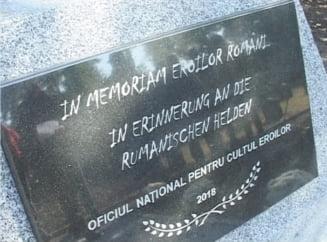 Nemtii au inaugurat un monument in memoria soldatilor romani ucisi in Primul Razboi Mondial (Video)