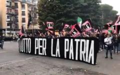 Neofascistii au iesit in strada la Roma pentru a cere expulzarea migrantilor