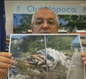 """Nesimtit cu remorca plina de moloz, prins in flagrant. Boc: """"Nu am crezut ca se mai poate intampla asa ceva la Cluj"""""""