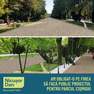 Nicusor Dan a castigat in prima faza un proces cu Firea. Primarul este obligat sa faca public proiectul pentru Parcul Cismigiu