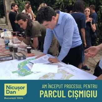 Nicusor Dan a dat in judecata Primaria Capitalei pentru proiectul privind amenajarea parcului Cismigiu