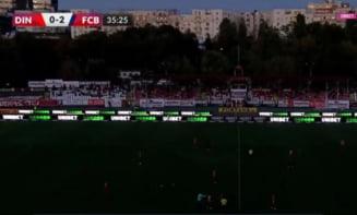 Nocturna stadionului Dinamo a picat chiar în timpul unui meci din Liga 1. Ce a făcut arbitrul Ovidiu Hațegan