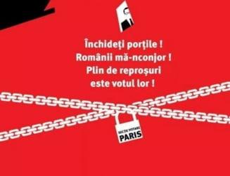 """Noi proteste la Ambasada Romaniei de la Paris: """"Dreptate si onoare calcate in picioare!"""""""