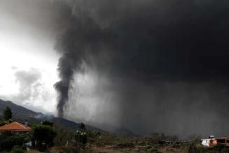 Norul de poluanti generat de vulcanul din La Palma intra duminica in tara. Trece si prin Timisoara