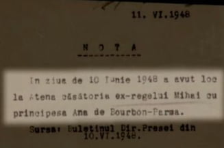 """Note informative despre regele Mihai - nume de cod, """"Strainul"""""""