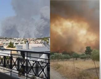 Nou incendiu, în apropiere de Atena, la poalele muntelui Parnita VIDEO