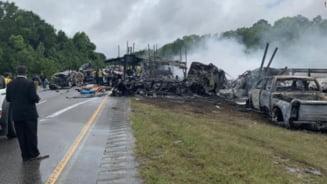 Noua copii au murit intr-un accident in lant, in Alabama. 18 masini implicate in ciocnire
