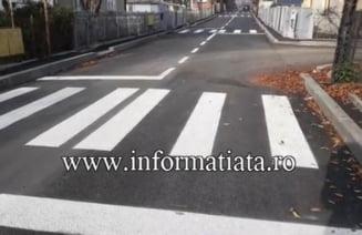 Noua treceri de pietoni amplasate pe o straduta de doar 300 de metri din Suceava (Foto)