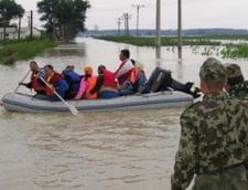 Noul bilant al inundatiilor din Galati: Peste 3.600 de oameni evacuati