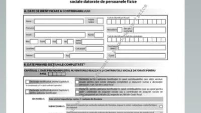 Noul model pentru Declaratia unica a fost publicat in Monitorul Oficial. Se poate depune pana pe 30 iunie