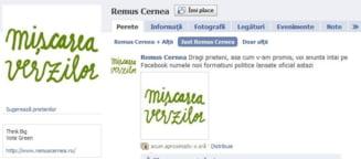 """Noul partid al lui Remus Cernea se cheama """"Miscarea Verzilor"""""""