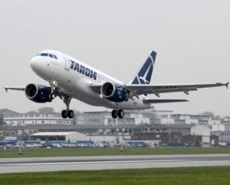 Numarul pasagerilor TAROM in primele sapte luni a crescut cu 24,7%