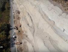 O alunecare de teren intarzie lucrarile la autostrada A1. Iata de ce s-a produs si cine e de vina