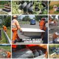 """O cadă aruncată în parcarea unui drum național a stârnit indignarea angajaților de la salubrizare: """"Noi curăţăm, tu păstrează! Drumul nu este coş de gunoi"""""""