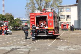 O cisterna cu 3 tone de motorina a luat foc in Vrancea