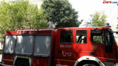 O cisterna cu aproape 12 tone de benzina si motorina a luat foc pe un drum din Prahova