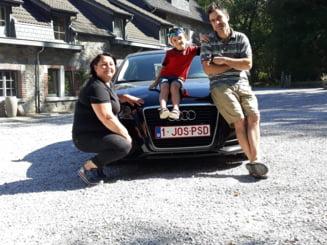 O familie de romani din Belgia anunta ca vine acasa cu un Audi antiPSD