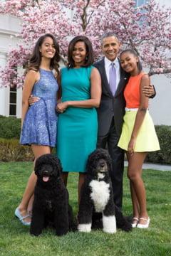 O fata invitata la Casa Alba a fost muscata de obraz de unul dintre cainii familiei Obama