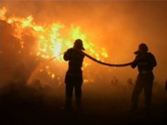 O femeie a fost carbonizata intr-un incendiu la Urlati