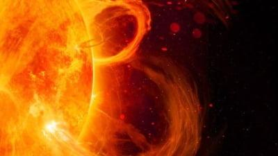 O furtuna solara puternica atinge Pamantul. Fluxul geomagnetic vine cu 600 de kilometri pe secunda spre noi VIDEO