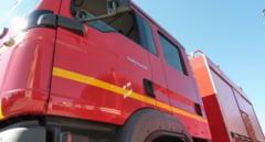 O masina a luat foc pe strada Mihai Viteazu