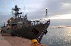 O nava militara romaneasca participa la o misiune internationala in Marea Neagra sub steagul NATO