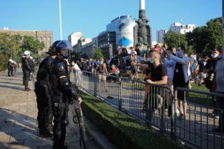 O noua seara de proteste la Belgrad. Manifestatia s-a incheiat fara niciun incident