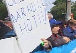 O noua zi de proteste in Bucuresti fata de masurile de austeritate (Video)