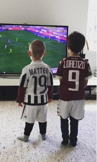 O poveste spectaculoasa: tatal este capitan la Juventus, iar fiul sau este suporter infocat al lui Torino