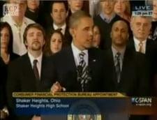 O replica a lui Barack Obama a starnit rasetele elevilor din audienta